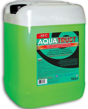 Незамерзающий теплоноситель Антифриз Aquatrust -30ºC 10кг теплоноситель обнинскоргсинтез для систем отопления thermagent технология уюта 65 10кг