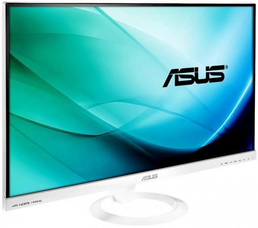 Монитор 27 ASUS VX279H-W белый AH-IPS 1920x1080 250 cd/m^2 5 ms HDMI VGA Аудио 90LM00G2-B01470 монитор asus 21 5 vs229da w 90lme9201q02201c 90lme9201q02201c