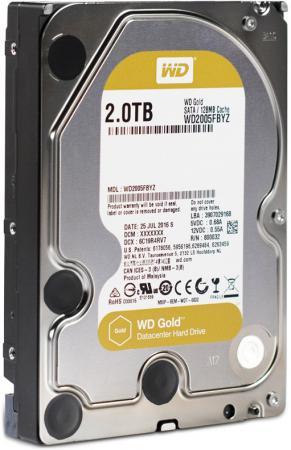 Жесткий диск 3.5 2 Tb 7200rpm 128Mb cache Western Digital Gold SATAIII WD2005FBYZ жесткий диск пк western digital wd2005fbyz 2tb wd2005fbyz