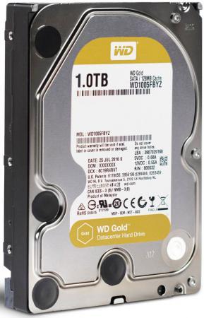 Жесткий диск 3.5 1Tb 7200rpm 128Mb cache Western Digital Gold SATA WD1005FBYZ свитшот print bar классный ананас