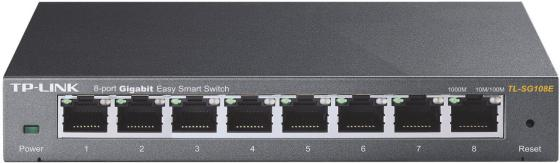 Коммутатор TP-LINK TL-SG108PE управляемый 8 портов 10/100/1000Mbps tp link tl sg105 коммутатор 5 портов