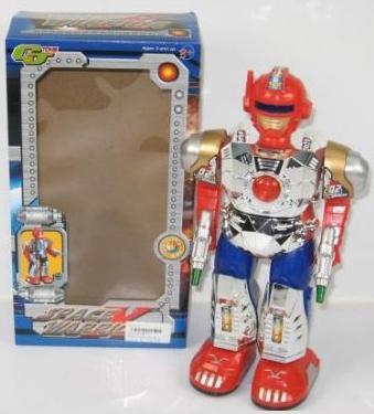 Боевой робот Shantou Gepai Space Warrior 27 см двигающийся со звуком светящийся 8001 голова для робота паука keye toys space warrior 5