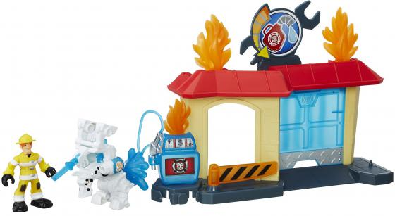 Игровой набор Hasbro Playskool Heroes ТРАНСФОРМЕРЫ СПАСАТЕЛИ: гоночные машины + спасатели B5582 + B4963 playskool игровой набор трансформеры штаб спасателей