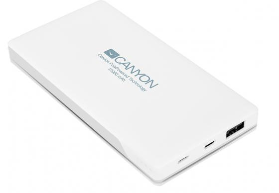 Портативное зарядное устройство Canyon CNS-TPBP10W 10000мАч белый