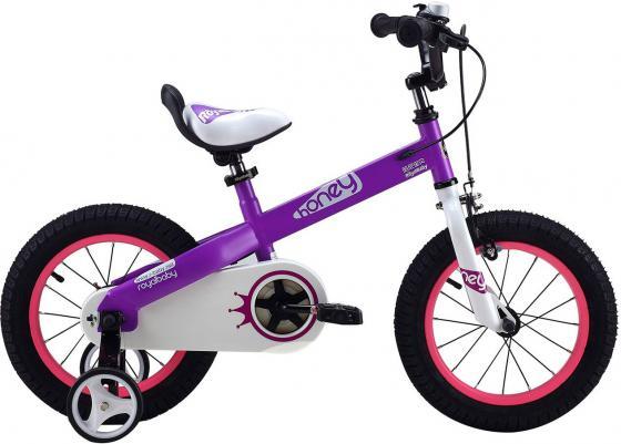 Велосипед двухколёсный Royal baby HONEY Buttons 14 фиолетовый детский велосипед 24 черного цвета poply 500