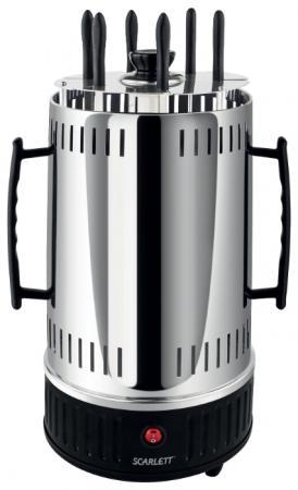 Электрошашлычница Scarlett SC-KG22601 чёрный серебристый масляный радиатор scarlett sc oh67b02 7