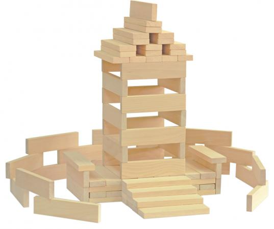 Конструктор Краснокамская игрушка К-04 Брусочки строительные 122 элемента набор краснокамская игрушка геометрические тела н 39