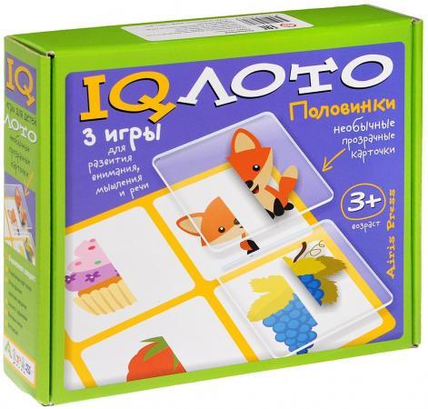 Настольная игра лото АЙРИС-ПРЕСС IQ лото - Половинки (3+) 25301 тактильное лото животные