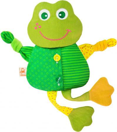 Мягкая игрушка-грелка лягушонок МЯКИШИ Доктор Мякиш 39 см зеленый текстиль 228 мякиши игрушка грелка доктор мякиш пингвин