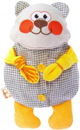 Мягкая игрушка-грелка медведь МЯКИШИ Доктор Мякиш-Мишутка 31 см серый желтый текстиль 178 мякиши игрушка грелка доктор мякиш сова