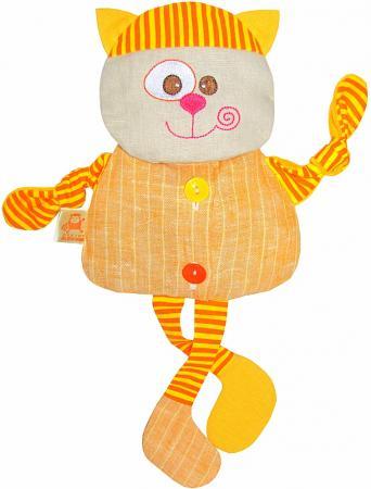 цена на Мягкая игрушка-грелка кот МЯКИШИ Доктор Мякиш 35 см оранжевый ткань 232