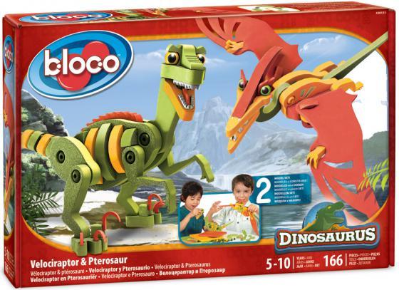 Конструктор Bloco Динозавры - Велоцираптор и Птерозавр 166 элементов 30131 bloco конструктор динозавры велоцераптор и птерозавр