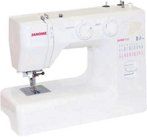 Швейная машина Janome Juno 523 белый/цветы швейная машинка janome juno 523