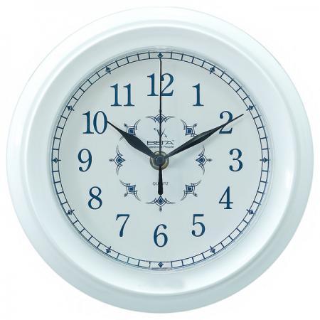 Часы настенные Вега П 6-7-12 белый часы настенные вега п 4 14 7 86 новогодние подарки