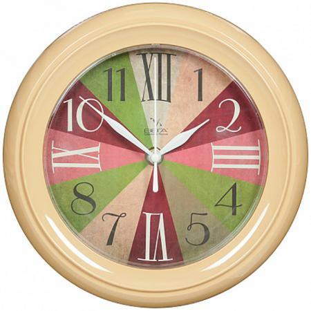 Часы Вега П 6-14-33 бежевый часы вега п 4 61321 6 24