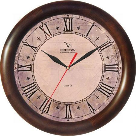 Часы настенные Вега Римские Д-1-МД/6-139 коричневый часы настенные вега д 1 мд 7 8 парусник