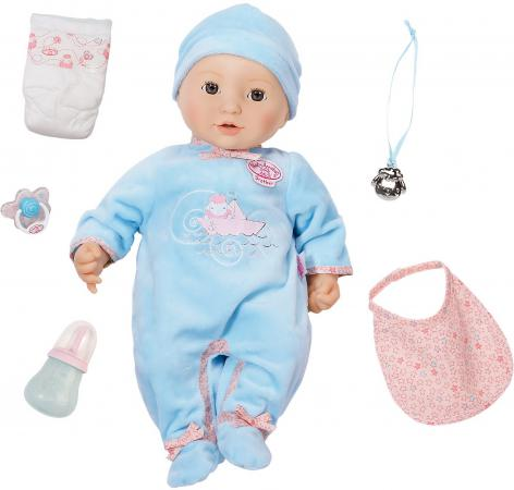 Кукла ZAPF Creation Baby Annabell Мальчик многофункциональный 43 см пьющая плачущая писающая со звуком 794654/0316 аксессуары для кукол zapf игрушка baby annabell памперсы