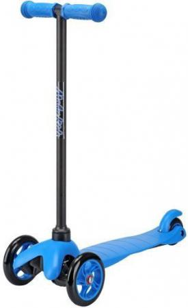 Самокат трехколёсный Moby Kids 2 в 1 управление наклоном синий 64966