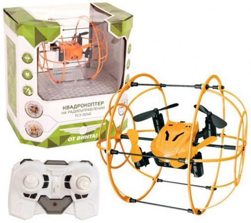 Квадрокоптер на радиоуправлении От Винта Fly-0246 от 7 лет пластик 87240 флаер на ик управлении от винта футбольный мяч белый от 7 лет пластик fly 0241