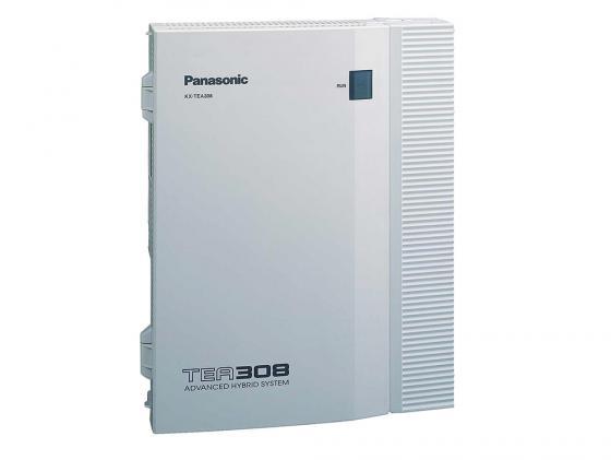 АТС Panasonic KX-TEB308RU аналоговая, 3 внешних и 8 внутренних линий (нерасширяемая) атс panasonic kx tem824ru аналоговая 6 внешних и 16 внутренних линий предельная ёмкость 8 24 линий