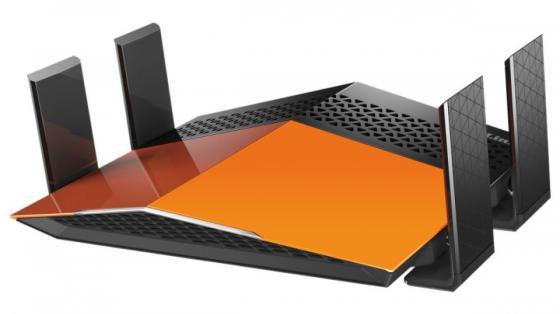 Купить со скидкой Беспроводной маршрутизатор D-Link DIR-879/A1A 802.11aс 1900Mbps 2.4 ГГц 5 ГГц 4xLAN RJ-45 черный ора