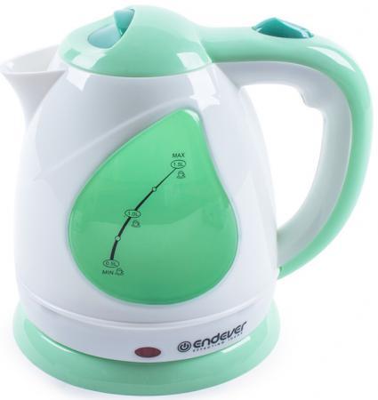 Чайник ENDEVER 349-KR 2100 Вт зелёный белый 1.5 л пластик endever kr 306g