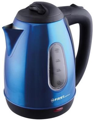 Чайник First 5410-5 1800 Вт синий 1.8 л металл чайник first 5417 1 1800 вт серый 1 5 л пластик