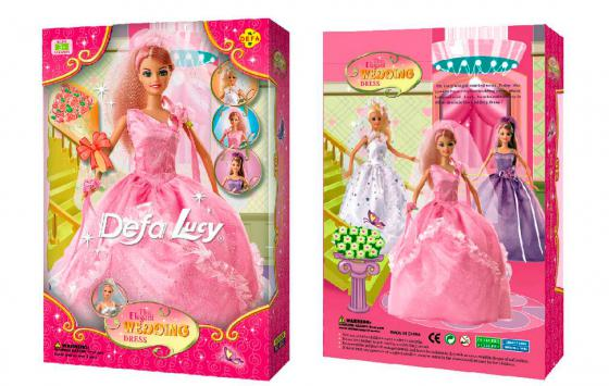 Кукла DEFA LUCY Невеста 30 см 6927480614609 6003 кукла defa lucy мама дочь 8304a