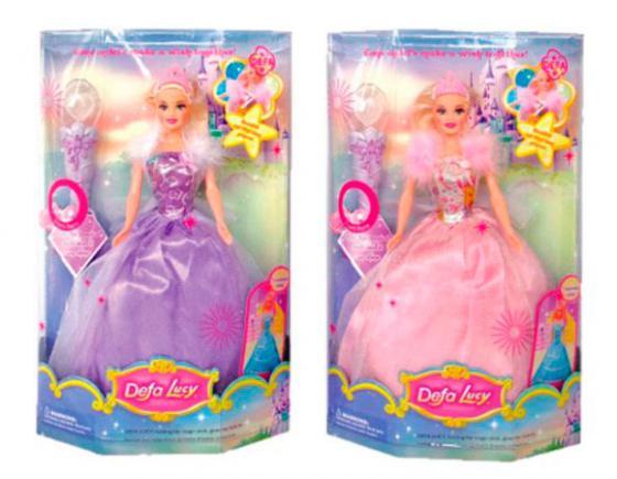 Кукла Defa Luсy Фея с аксесс., свет,  в ассорт., кор. 8003 кукла defa lucy 6023