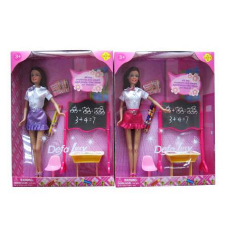 Кукла Defa Luсy Школа с аксесс., в ассорт., кор. 8183 кукла defa lucy 8305a