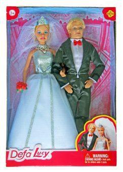 Игровой набор кукол Defa Lucy Свадьба, кор 8305 набор игровой lucy