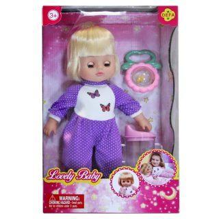 Кукла Defa Luсy Любимый малыш, 29 см, в сиренев. костюме, с аксесс., кор. 5063/purple odeon light люстра потолочная kink light софи 5365 7