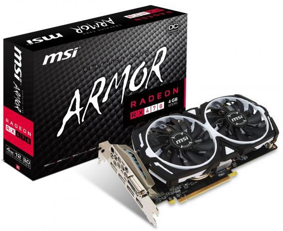 все цены на Видеокарта 4096Mb MSI RX 470 PCI-E DVI HDMI DP HDCP RX 470 ARMOR 4G OC Retail онлайн