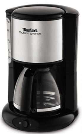 Кофеварка Tefal CM361838 1000 Вт серебристый/черный