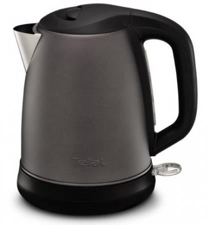 цена Чайник Tefal KI270930 2400 Вт серый 1.7 л металл