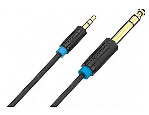 Кабель соединительный 1.0м Vention 6.5 Jack (M) - 3.5 Jack (M) BABBF кабель jack jack vention кабель minijack jack 2 m