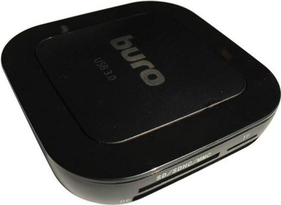 Картридер внешний Buro BU-CR/HUB3-U3.0-C004 USB3.0 черный картридер buro bu cr 151 черный bu cr 151
