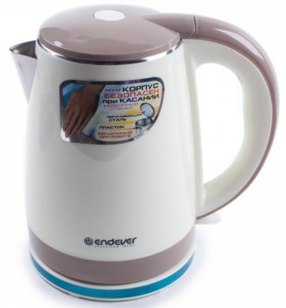 Чайник ENDEVER Skyline KR-239S 2200 Вт бежевый коричневый 1.8 л пластик kromax endever skyline kr 208s