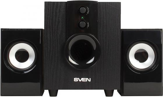 Колонки Sven MS-107 2х2.5Вт+5Вт черный акустическая система sven ms 107 черный