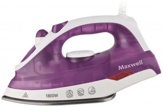 Утюг Maxwell MW-3042(VT) 1800Вт белый сиреневый цена и фото