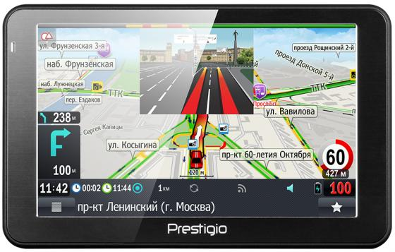Навигатор Prestigio GeoVision 5068 Навител 5 800х480 4GB 128MB microSD microSDHC черный gps навигатор prestigio geovision 5068 5 авто 4гб navitel черный