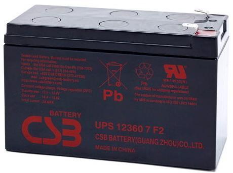 Батарея CSB UPS 123607 F2 аккумулятор csb gp1272 28w 12v7ah f2