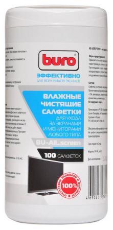 Влажные салфетки BURO BU-All_screen 100 шт влажные салфетки buro bu zsurface