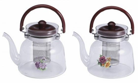 Чайник заварочный Wellberg WB-6853 прозрачный 1.4 л стекло 2 дизайна cr6853 6853 sot23 6