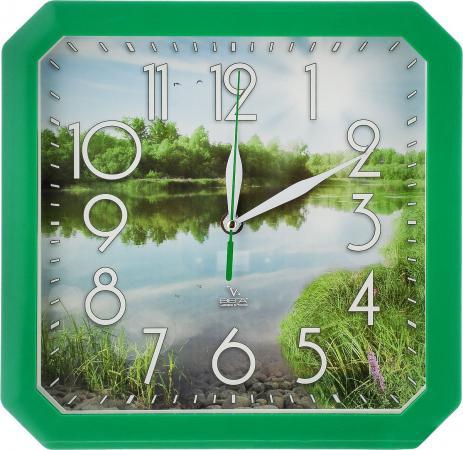Часы настенные Вега Пейзаж П4-3/7-82 зелёный часы настенные вега пейзаж п4 3 7 82 зелёный