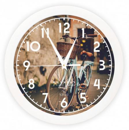 Часы настенные Вега П1-7/7-253 Ретро велосипед рисунок часы настенные вега д 4 мд 7 77