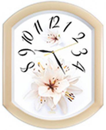 Часы настенные Вега П2-14/7-24 Лилия жёлтый часы настенные вега п 4 14 7 86 новогодние подарки