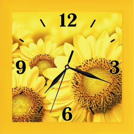 Часы Вега П 3-2-104 жёлтый