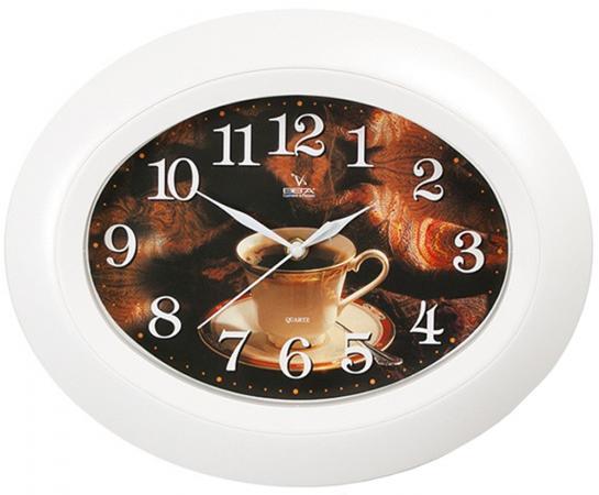 Часы настенные Вега Чашка чая белый П 5-7/7-11 часы настенные вега п 4 14 7 86 новогодние подарки