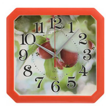 Часы настенные Вега П4-1/7-83 Ранетки красный рисунок часы настенные вега п4 6 6 80 чёрный